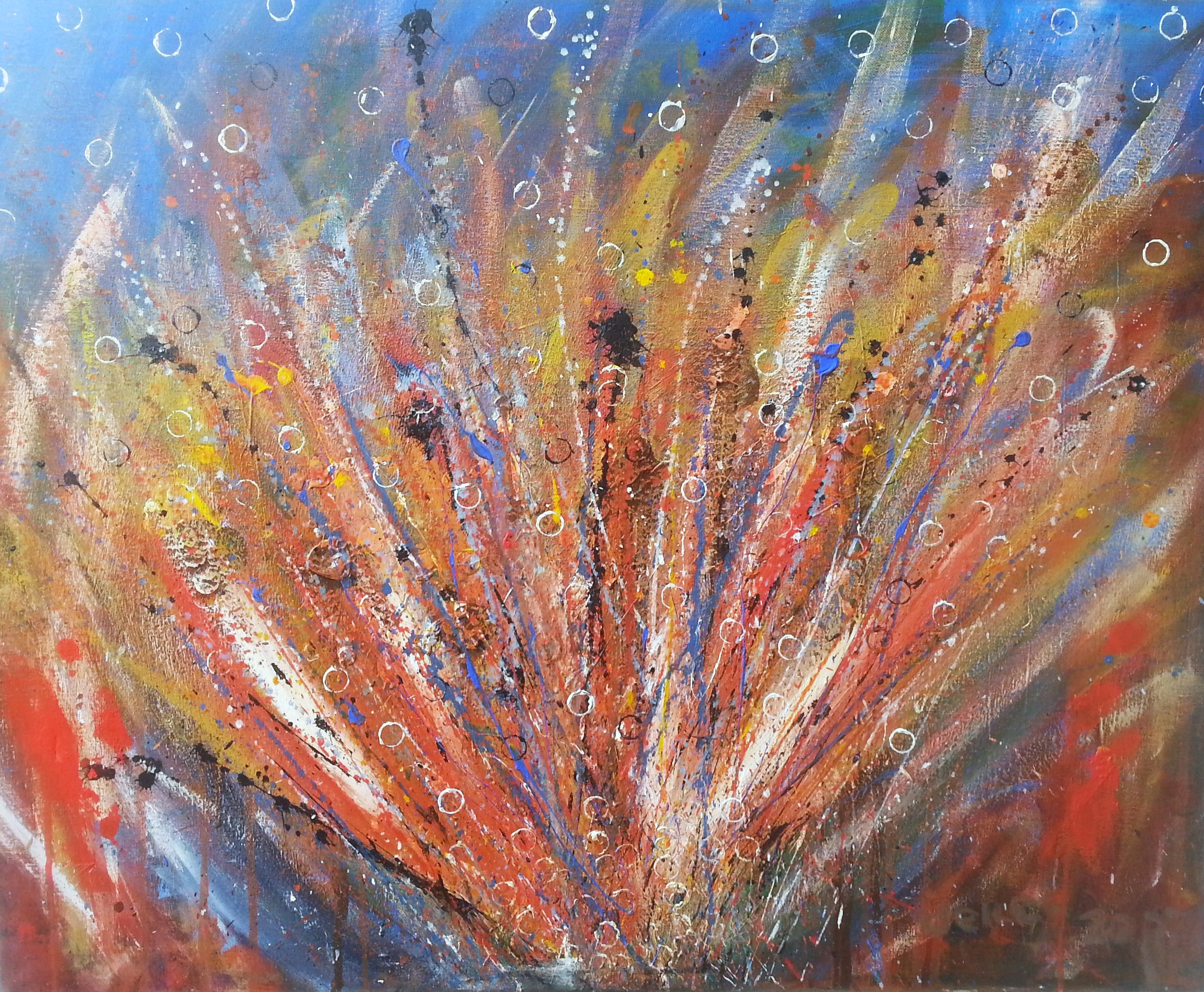 Fire-Work abstract painting
