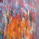 Orange Mess abstract painting