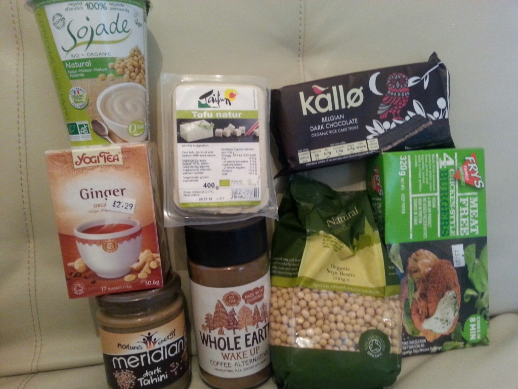 Health Shop Booty, complete with Tofu, Soya Beans and Tahini