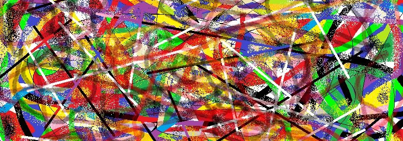 Another abstract made with Paint – @@@@@@@