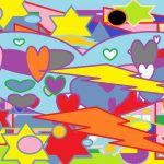 Flashes Stars Hearts - Paint Art