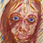 Candigirl - acrylic portrait