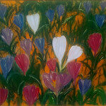 Crocuses finished on wall